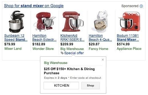Google special offer