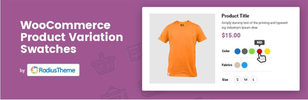 WooCommerce variation swatches free plugin