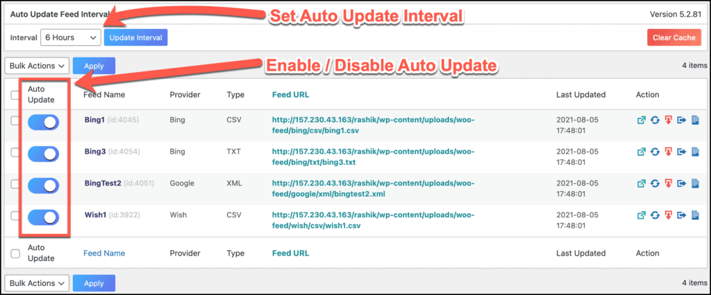 Auto Feed Update