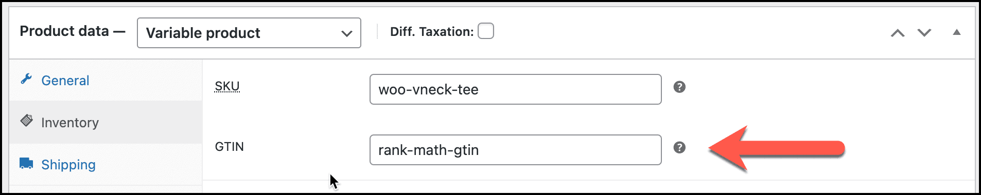 Rank Math SEO Pro GTIN field