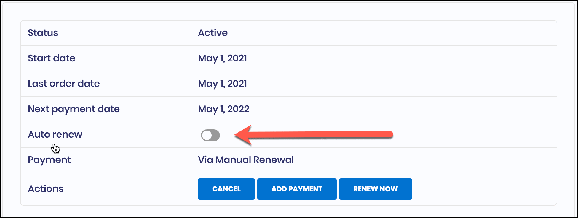 Disable Auto Renew for CTX Feed Pro Subscription