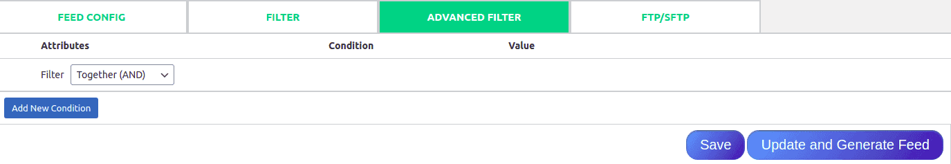 Premium filtering options of Woo Feed Pro