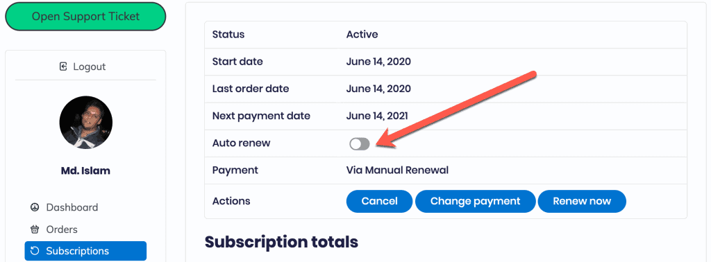 How to cancel a subscription of CTX Feed