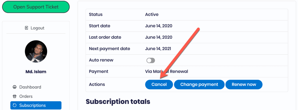 How to cancel a subscription