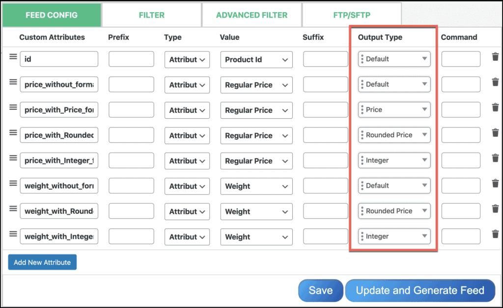 Price Format Configuration
