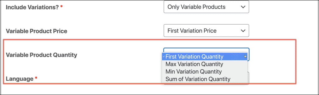 How to set variable product price and quantity
