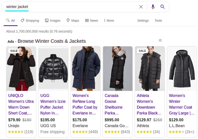 Ads on Google Shopping