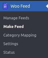 Option to create a new feed from woofeed plugin