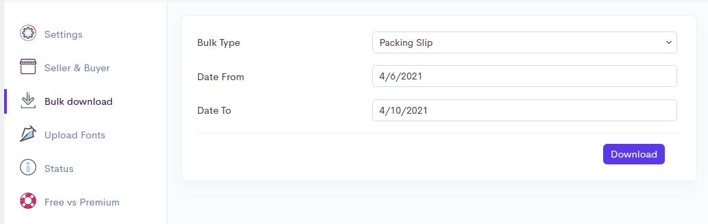 Configure Chalan plugin for invoice