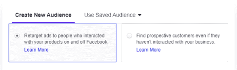 Targeting options in facebook dynamic ads
