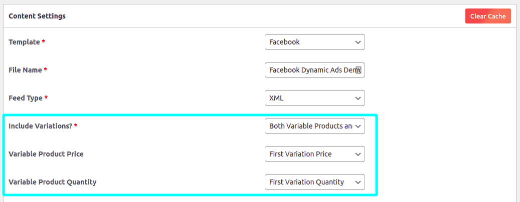 Options to control product variations in your feed for Facebook