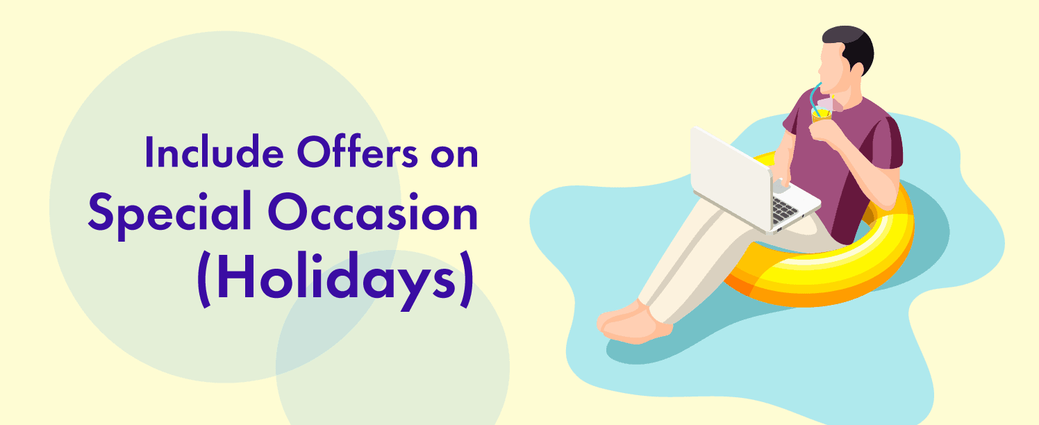 Include Offers on Special Occasion to increase ecommerce shop customer experience.