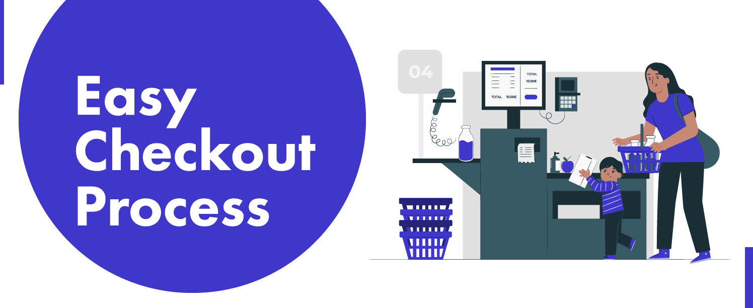 Easy Checkout Process can improve customer experience of your woocommerce store