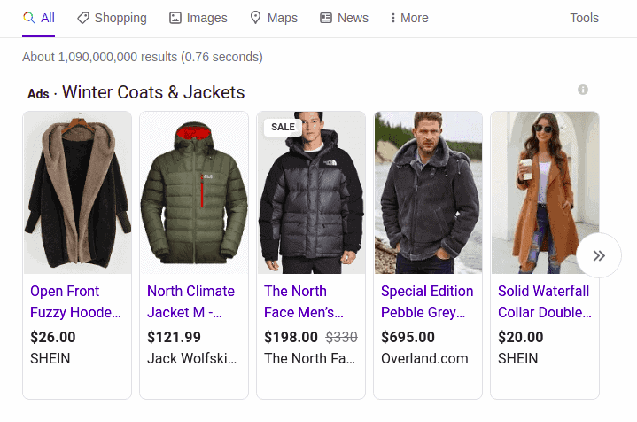 Product promotions on Google