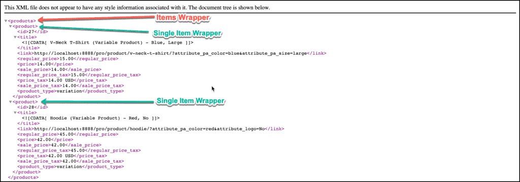 Single Item Wrapper example