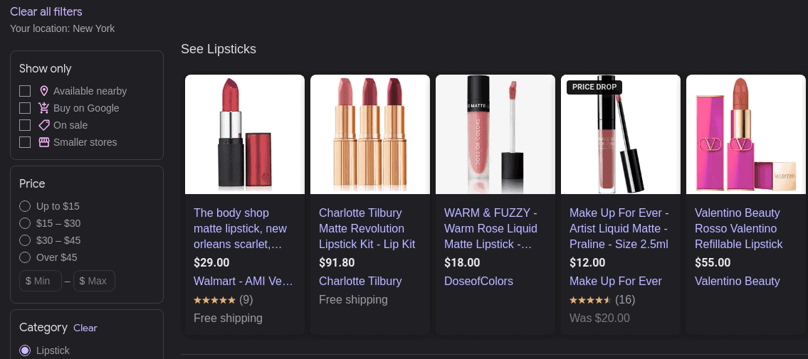 Promoted products on Google Shopping