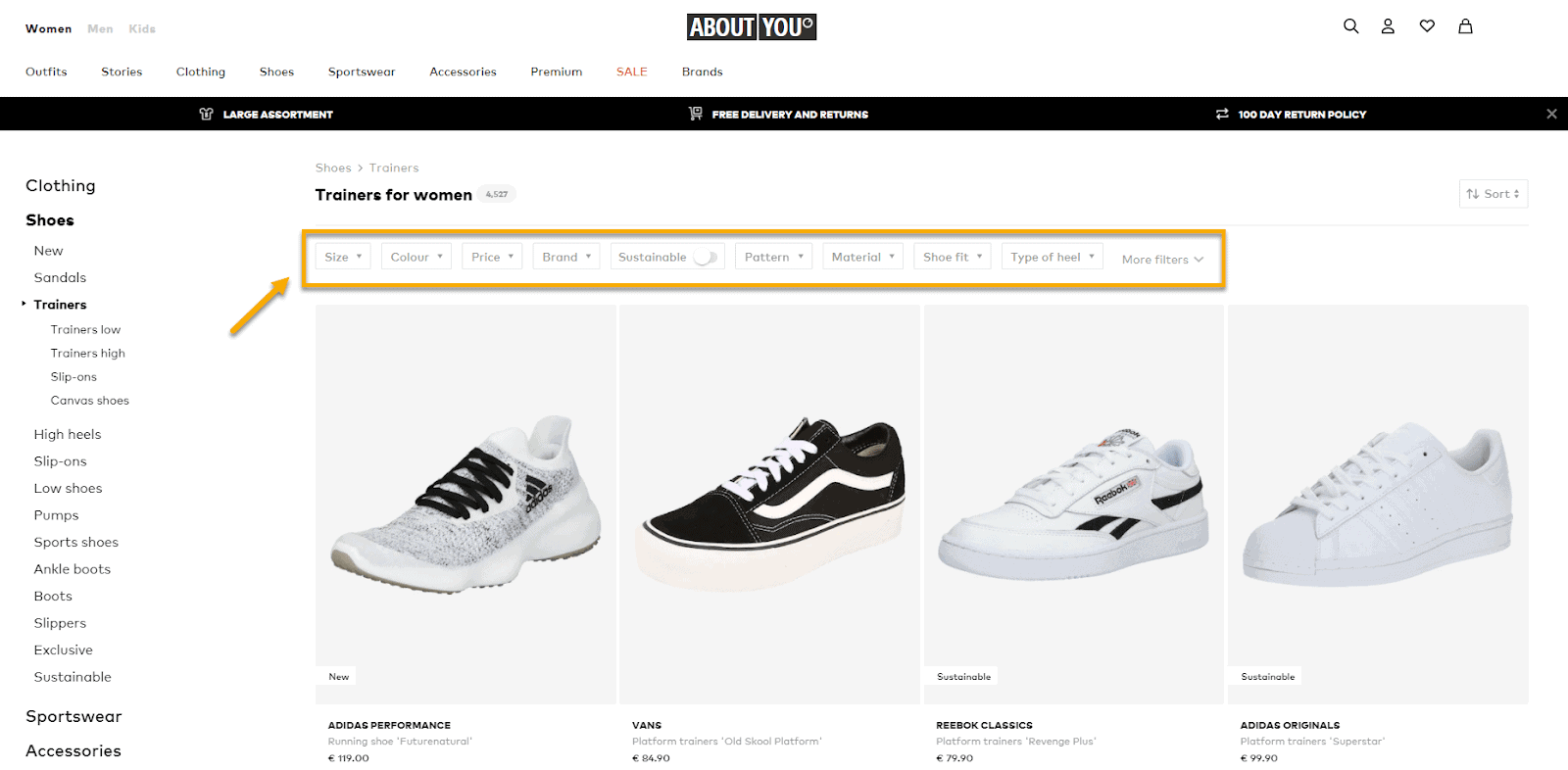 Smooth filtering options make your fashion woocommerce store a professional look