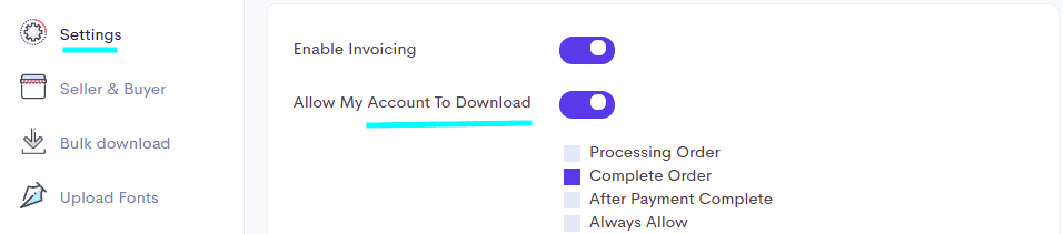 Allow invoice downloading for your customers