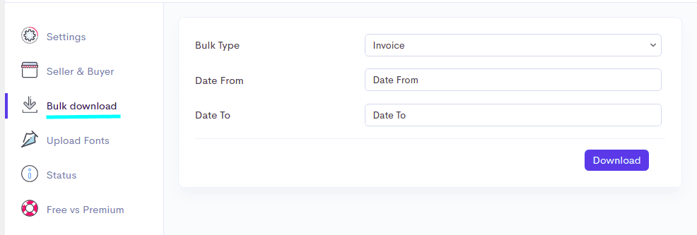 Option to bulk download PDF invoice for WooCommerce