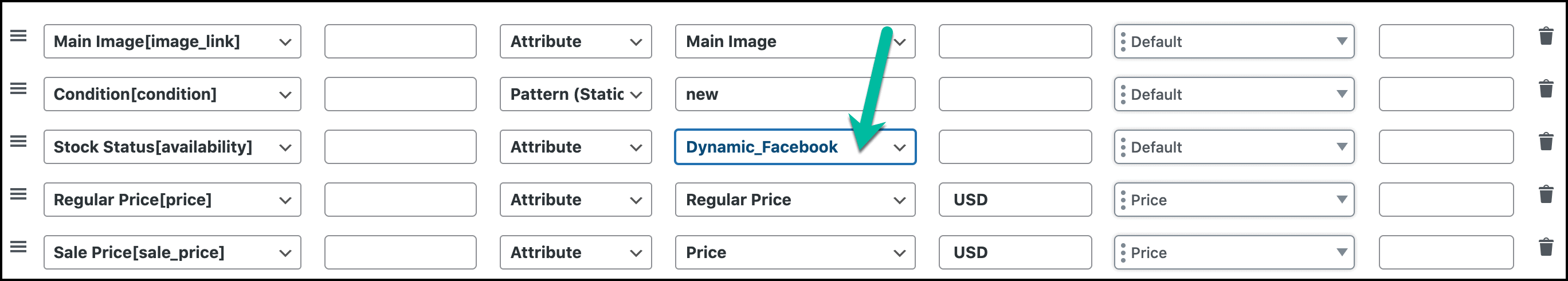 Dynamic attribute value in Feed Config