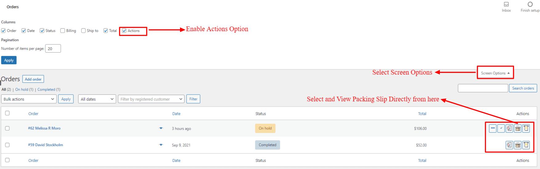 Challan Packing Slip Edit Order section