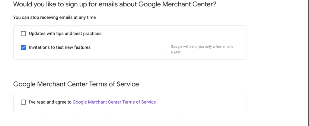 Google Merchant Terms and Conditions - WooCommerce Google Feed