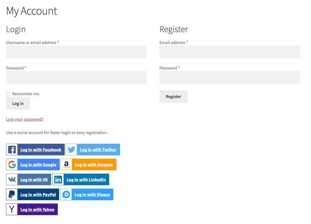 SkyVerge Plugin preview - WooCommerce Social Login