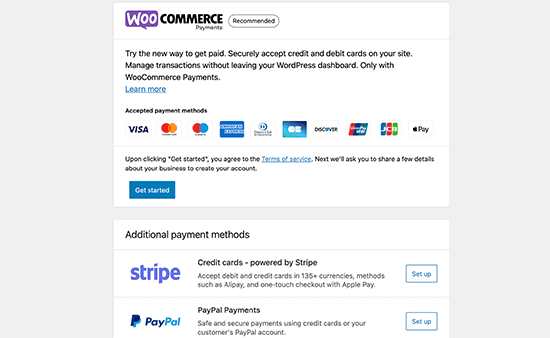 WooCommerce Payment Options - WooCommerce Store